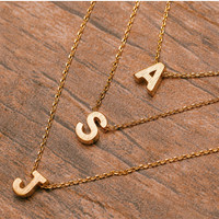 Be Yourself Initial Necklace - A
