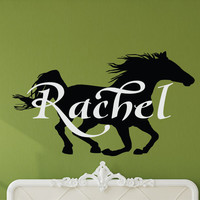 Horse Wall Decal, Horse Decor, Personalized Horse, Horse Art, Horse Nursery, Equine Art, Equine Decor, Nursery Name Decal