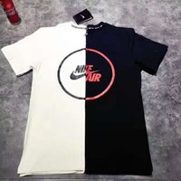 One-nice™ NIKE AlR hook Pure cotton couples sports leisure short sleeve T-shirt top H-YF-MLBKS