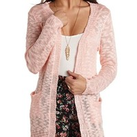 SLUB OPEN TUNIC CARDIGAN SWEATER