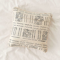 Cozy Nomad Mudcloth Faux Fur Throw Pillow   Urban Outfitters