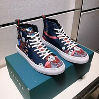 Gucci Men's Canvas High Top Fashion Sneakers Shoes