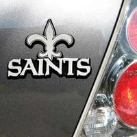 NFL New Orleans Saints Chrome Automobile Emblem