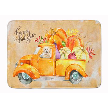 Fall Harvest Goldendoodle Machine Washable Memory Foam Mat CK2618RUG