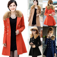 Women Warm Fur Collar Winter Trench Coat Parka Overcoat Long Jacket Outfit   F_B 18508 = 1930527876