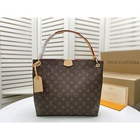 LV Louis Vuitton Women's Tote Bag Handbag Shopping Leather Tote Crossbody Satchel 35X26X10cm