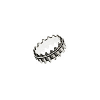 Dobby Embroidered Sterling Silver Spinner Ring