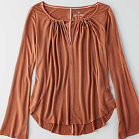 AEO Soft & Sexy Bell Sleeve T-Shirt, Brown