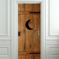 """Door STICKER outhouse closet toilet WC moon mural decole film self-adhesive poster 30""""x79""""(77x200 cm)"""