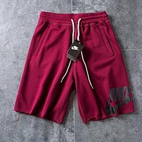 Nike Hot Sale Trending Casual Sports Running Shorts Red