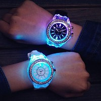 New Women Digital Watch Silicone Watches Fashion Ladies Watch Colorful LED Luminous Sports Watch fashion watch 2018 reloj mujer