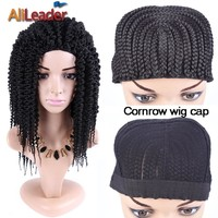 Cornrow Wig Caps For Making Wigs With Great Elastic Stretched 52-66Cm Braided Cap For Weave Wig Women Hairnets Guleless Caps