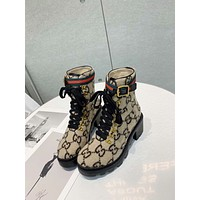 fashion  Trending Women's men Leather Side Zip Lace-up Ankle Boots Shoes High Boots