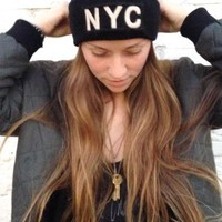 NYC EMBROIDERY BEANIE
