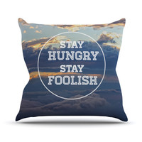 "Skye Zambrana ""Stay Hungry"" Throw Pillow"
