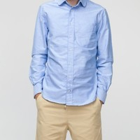 Gitman Brothers Vintage / Rounded Collar Blue Oxford