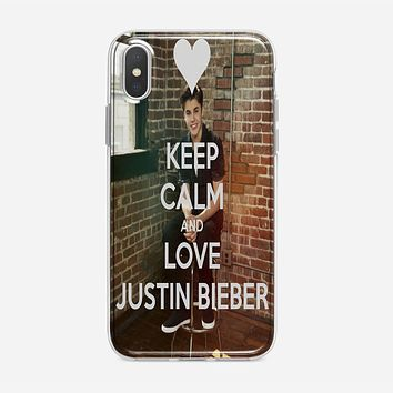 Keep Calm And Love Justin Bieber iPhone XS Max Case