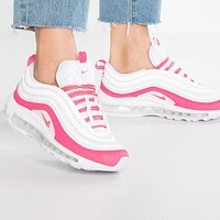 Nike Air Max 97 Trending Women Casual Air Cushion Running Sport Shoes Sneakers Pink&White