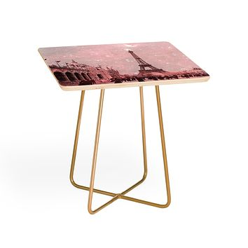 Bianca Green Stardust Covering Vintage Paris Side Table