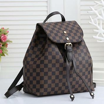 Louis Vuitton LV Hot Selling Retro Backpack Classic Tie Bag Mouth Fashion Men's and Women's Backpacks School Bags Handbags