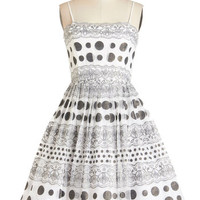ModCloth Vintage Inspired Short Spaghetti Straps Fit & Flare Pop Exquisite Dress