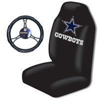 Dallas Cowboys NFL Car Seat Cover and Steering Wheel Cover Set