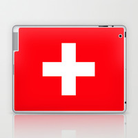 red + white plus Laptop & iPad Skin by holli zollinger