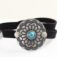 Circle Etched Wrap Bracelet