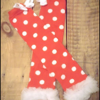 """Christmas Leg Warmers Baby Leg Warmers For Toddler Girls, Little Girls Photography Prop """"Holly Jolly"""" Striped or Polka Dot"""