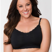 Plus size No wire seamless sleep bra | Lane Bryant
