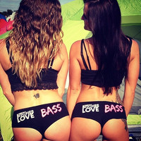 Bitches Love Bass Booty Shorts ** rave shorts, festival, edc, tomorrowland, tomorrowworld, edm, party **