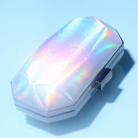 Violet Ray Holographic Hard-Case Clutch - Urban Outfitters