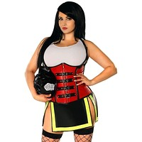 Daisy Top Drawer Five Alarm Firegirl Corset Costume