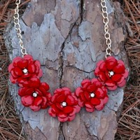 Kiss From A Rose Necklace-Red