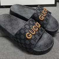 Gucci's latest letter slippers