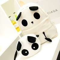 Fashion Cute Women Style Panda Schoolbag #G Backpack Shoulder Book Bag Set