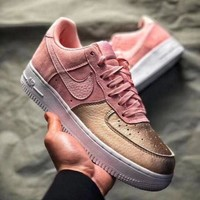 NIKE Air Force 1 QS GS AF1 Sakura Powder Fashionable Women Casual Sport Shoes Sneakers