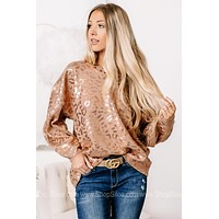 All That Glitters Metallic Cheetah Print Sweater