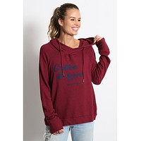 Coffee & Love Cross Back Hoodie