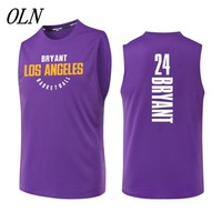OLN New Basketball Jersey 24 Kobe Bryant Printing Jersey Uniforms Sports Breathable Basketball Shirts For Men