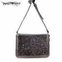 Montana West TR18-L8316 Trinity Ranch Tooled Messenger Bag