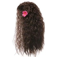 Girls Cosplay Synthetic Hair Dress up Kids Princess Party Supply Women Black Long Wig Moana Wig Halloween Cosplay Wave Wig