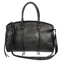 Women's Weekender Faux Leather Handbag Black - Mossimo Supply Co.™ : Target