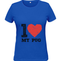 Ladies Favourite T-Shirt - I Love My Pug - Various Colours