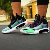Bunchsun Air Jordan 34 AJ34 Hot Sale Men Women Sport Basketball Shoes Sneakers Black&Green