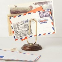Paper Clip Letter Holder by Anthropologie Bronze One Size Hair