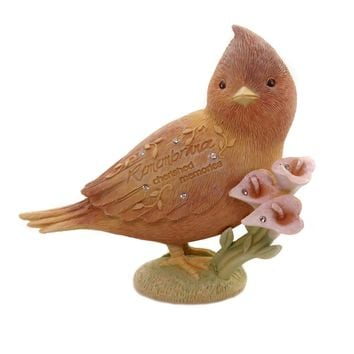 Foundations REMEMBRANCE BIRD Polyresin Cherished Memories 6005238