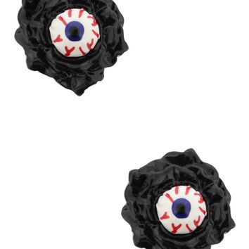 Sourpuss Black Eyeball Earrings