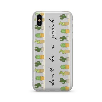 Dont Be A Prick - Clear Case Cover