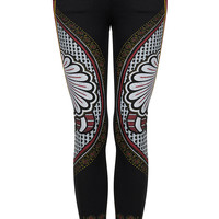 MOTO Black Paisley Print Leigh Jeans - Jeans - Clothing - Topshop